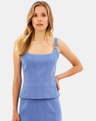 Ginger & Smart – Carmen Top Bluebell