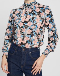 DP Petite - Penelope Floral Print Honey Top