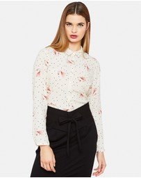Oxford - Poppy Shirt with Bird Pin