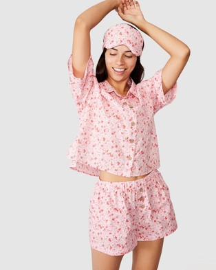 Cotton On Body Washed Woven Sleep Set - Two-piece sets (Ditsy Texture)