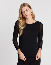 Faye Black Label - Miracles Double Layer Mesh Top