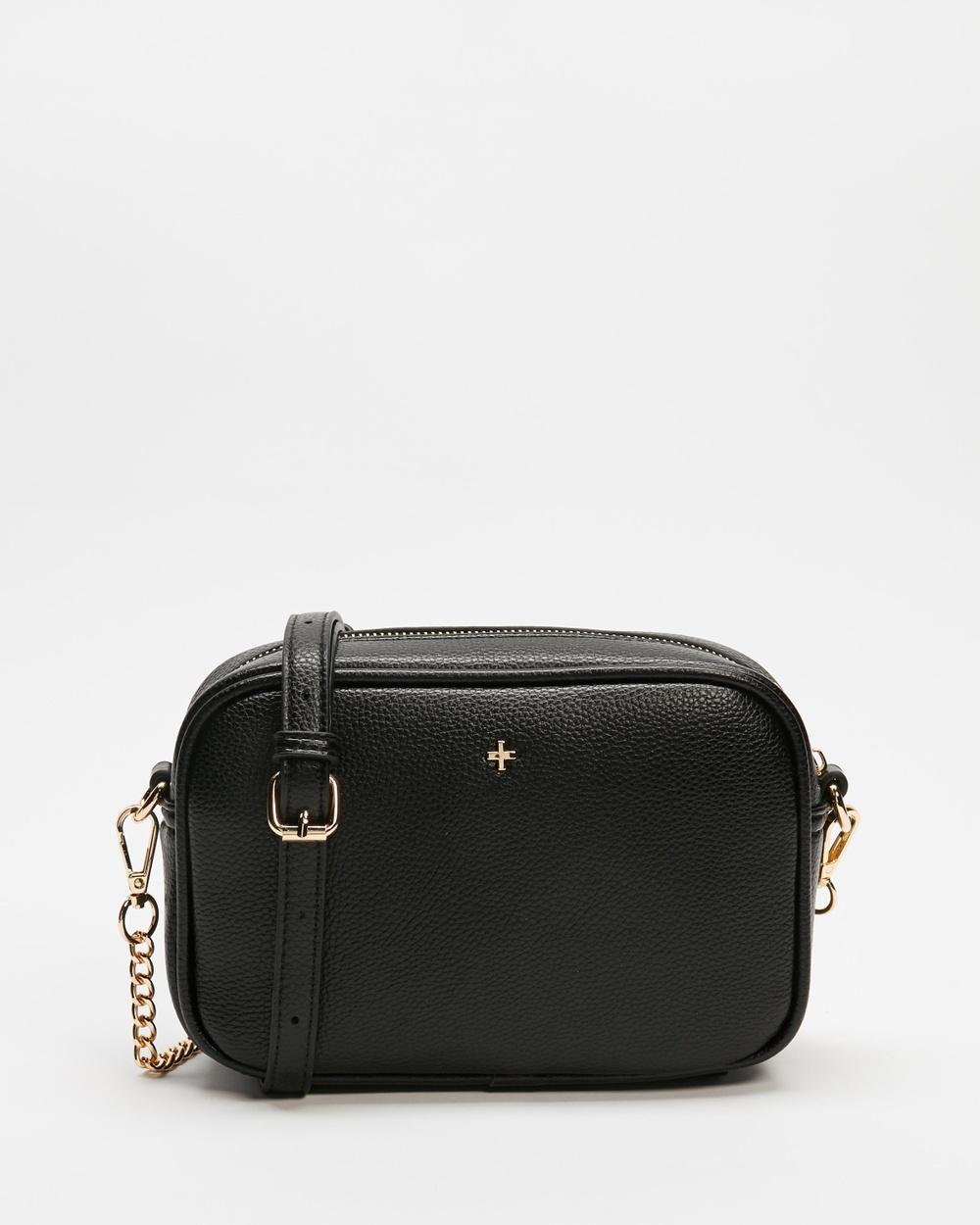 PETA AND JAIN Golden Handbags Black & Gold