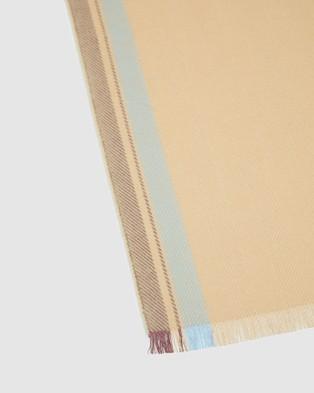 Oxford Leon Block Stripe Scarf - Scarves & Gloves (Brown)