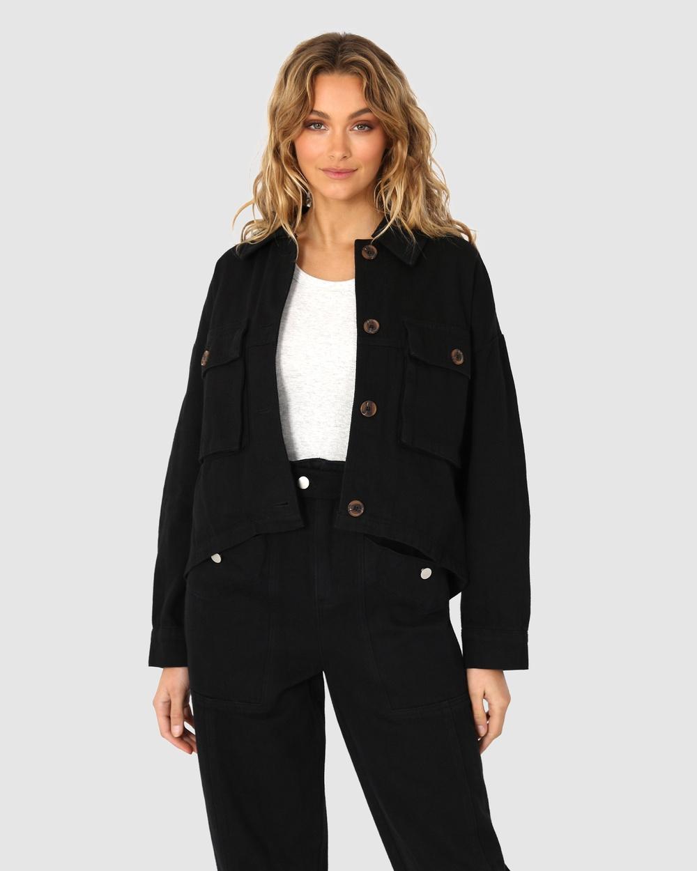 Madison The Label Izza Jacket Denim jacket Black Australia