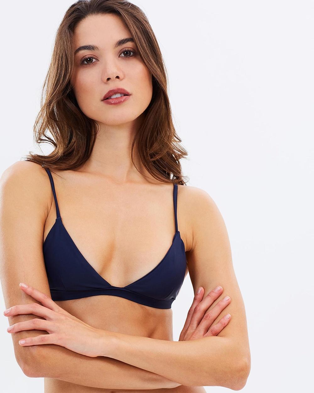 Tanliines The Dawn Top Bikini Tops Navy The Dawn Top