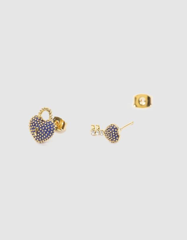 Women Fancy Earring Heart & Key Locket