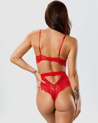 Ann Summers Hold Me Tight Bodysuit - Lingerie (Red)