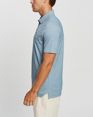 TravisMathew Across The Atlantic Golf Polo Shirt - Shirts & Polos (Heather Aegean)