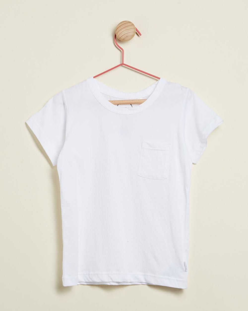 Bonds Kids - Basic Aussie Cotton Tee   Kids - T-Shirts & Singlets (White) Basic Aussie Cotton Tee - Kids