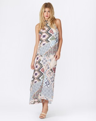 Three of Something – Traveller Labyrinth Dress – Dresses (Labyrinth Print)