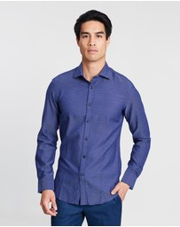 Brooksfield - Luxe Jaspé Dobby Shirt