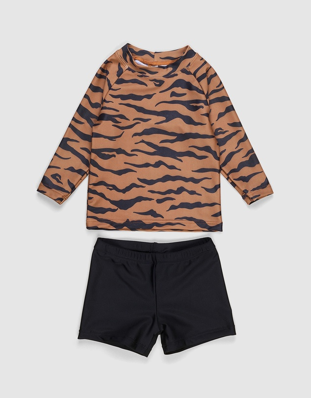 Huxbaby - Tiger Rashguard 2-Piece Set - Babies-Kids