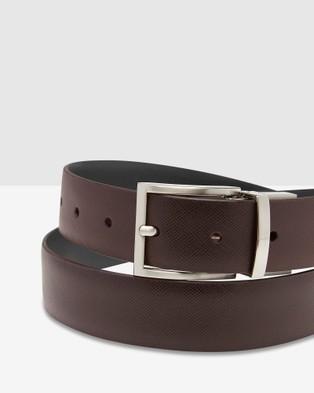 Oxford Harrison Reversible Belt - Belts (Black/Dark Brown)