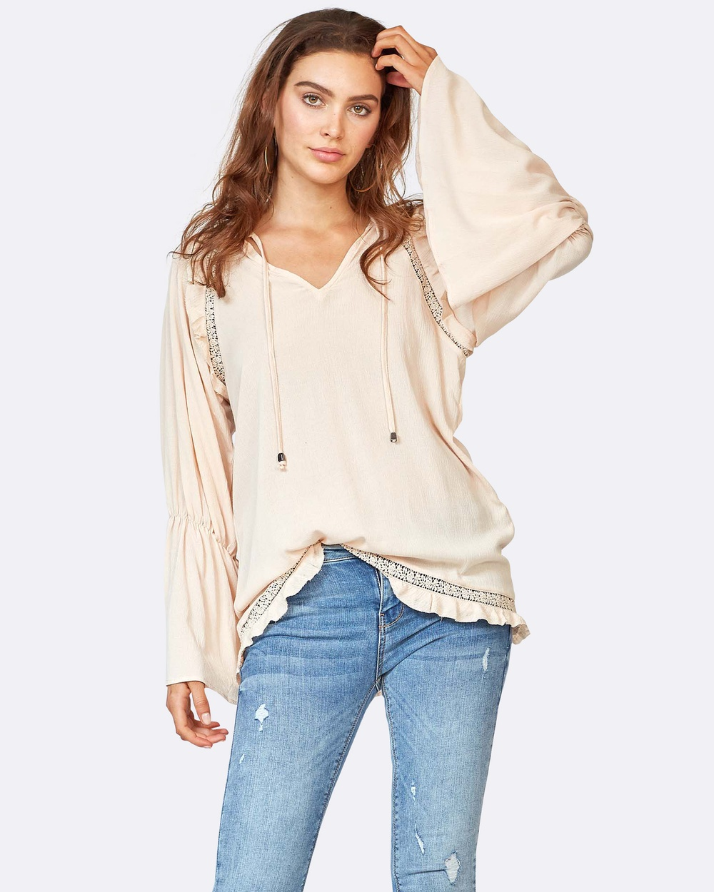 Three of Something Ciao Blouse Tops Blush Ciao Blouse