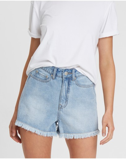 The Fated - Valley Hirise Denim Shorts