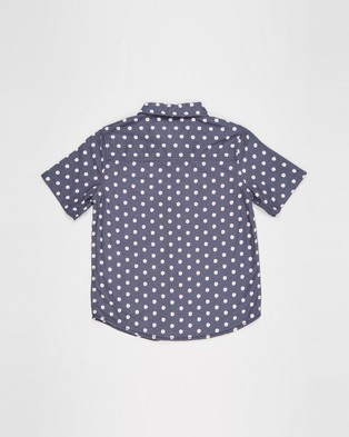 Free by Cotton On Resort Short Sleeve Shirt   Teens - Casual shirts (Daisy & Vintage Navy)