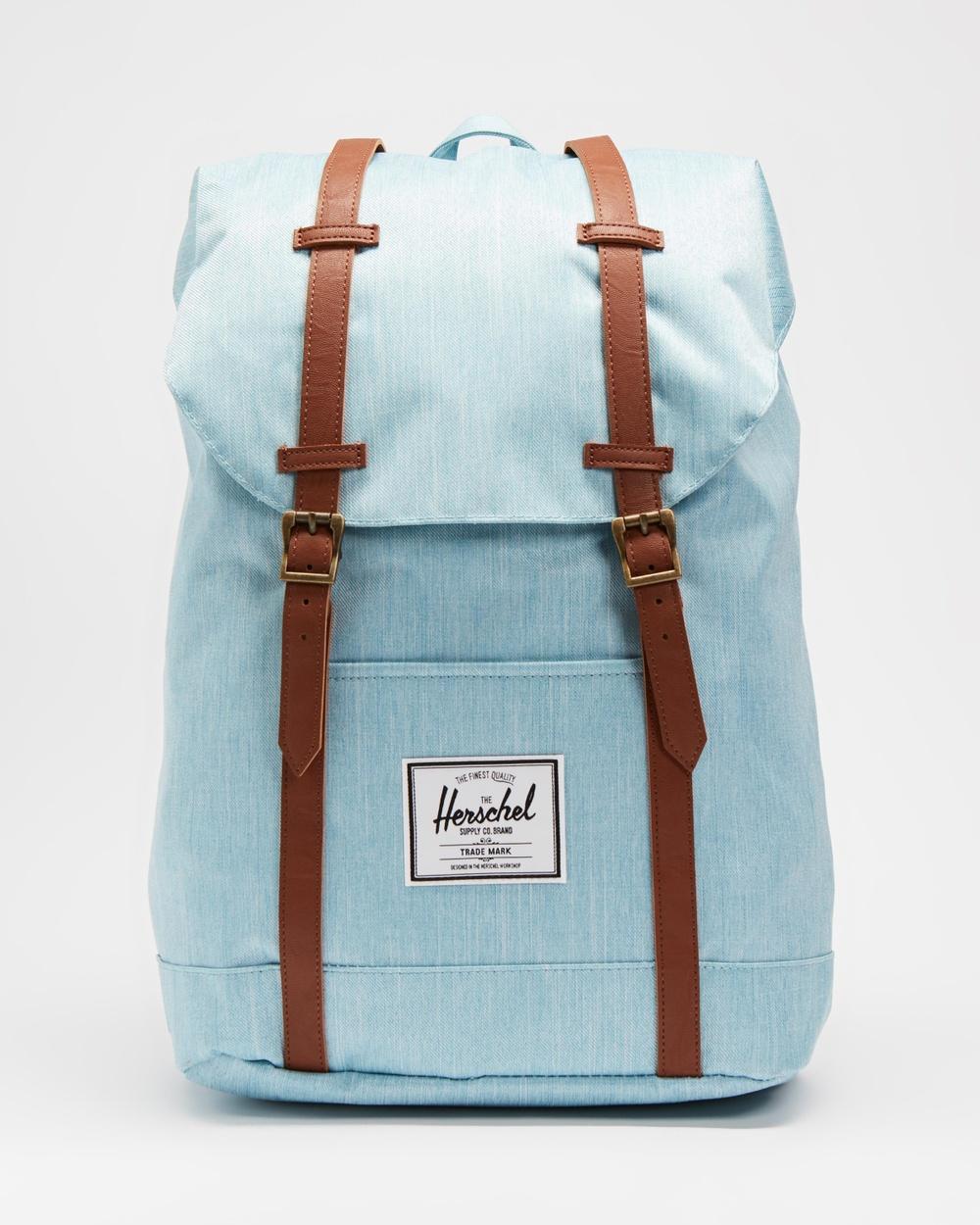 Herschel Retreat Backpacks Light Denim Crosshatch