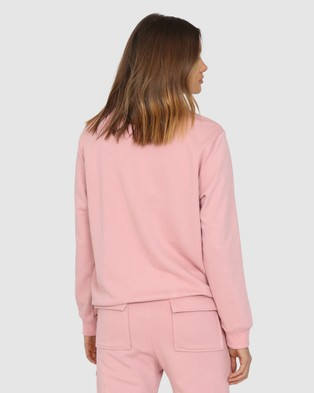 Madison The Label Madison Embossed Sweater - Sweats (Musk)