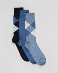 Tommy Hilfiger - 3-Pack Argyle Socks
