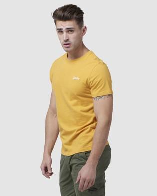 Superdry - Orange Label Vintage Embroidery Tee - T-Shirts & Singlets (Upstate Gold Marle) Orange Label Vintage Embroidery Tee