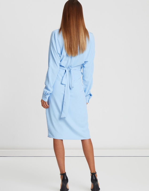 Willa - Reade Wrap Shirt Dress