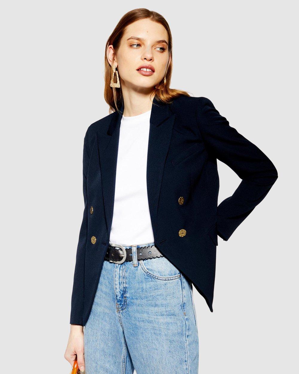 6edd260af Belinda Button Blazer by TOPSHOP Online | THE ICONIC | Australia