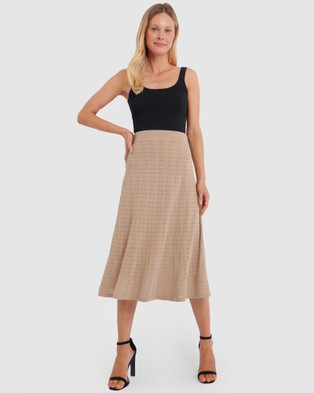Forcast Zia A Line Skirt - Skirts (Beige)