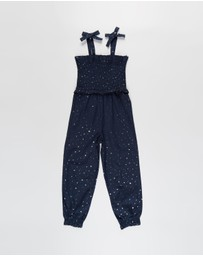 Cotton On Kids - Imogen Shirred Jumpsuit - Kids-Teens