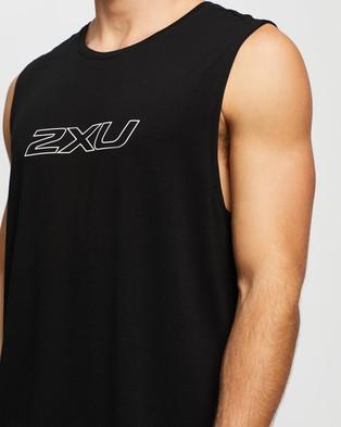 2XU Contender Tank - Muscle Tops (Black & White)