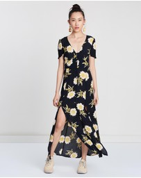 Miss Selfridge - Sarah Floral Print Button-Through Maxi Dress