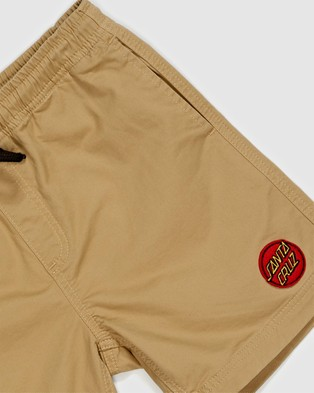Santa Cruz Heat Seeker Shorts   Teens - Shorts (Tan)