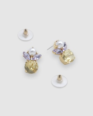 Peter Lang Ange Earrings - Jewellery (Champagne Gold, Pearl, Clear & Canary )