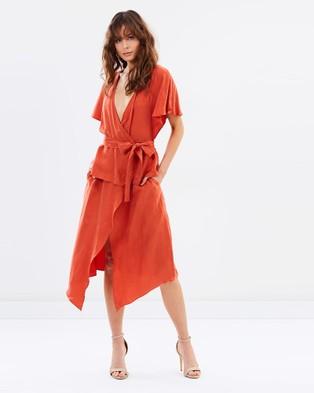 August Street – New National Midi Dress – Dresses (Sunset)