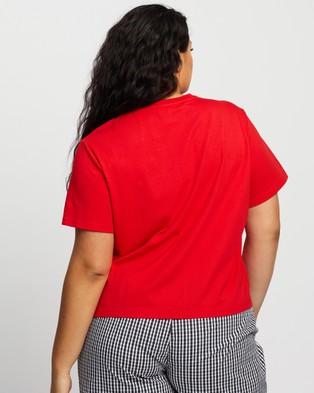 Atmos&Here Curvy Happy Holidays Gingham Tee - Sleepwear (Red)