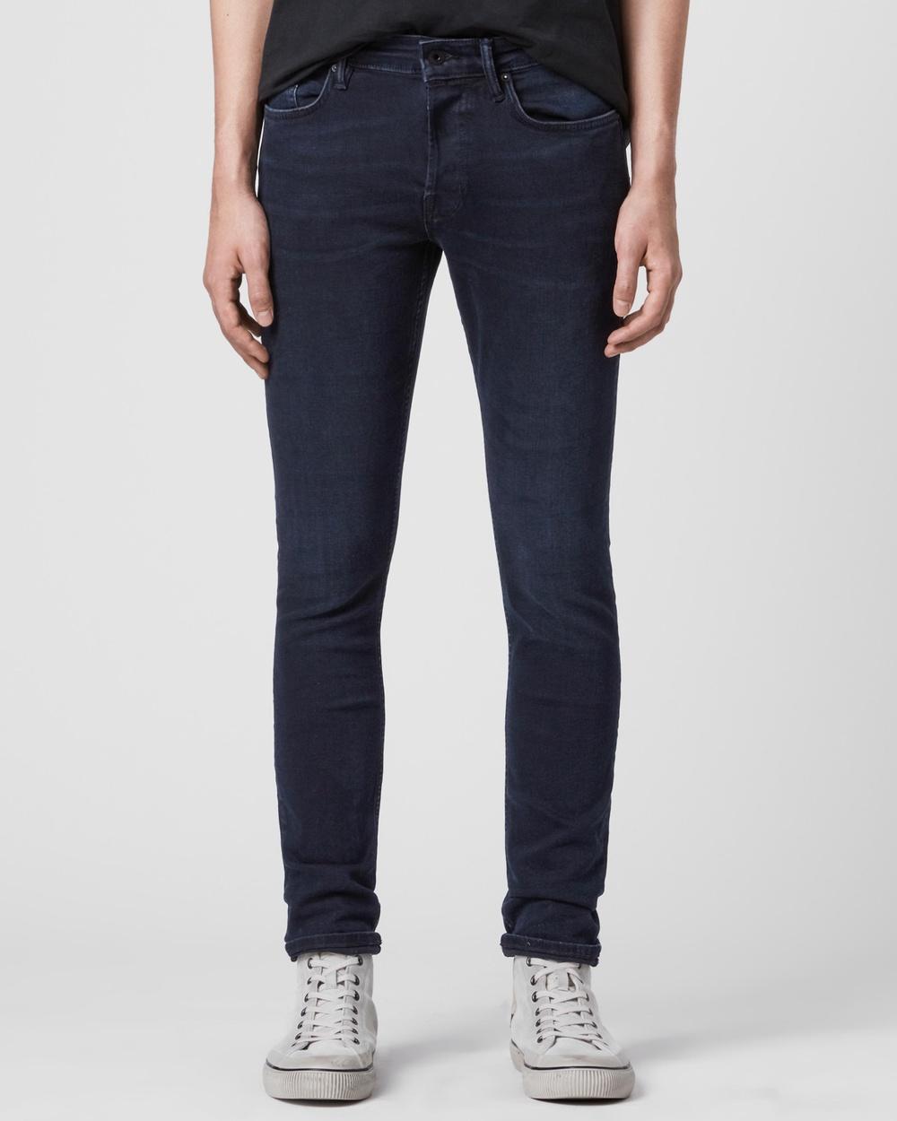 AllSaints Cigarette Skinny Jeans Blue Black
