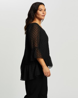 Atmos&Here Curvy Catalina Blouse - Tops (Black)
