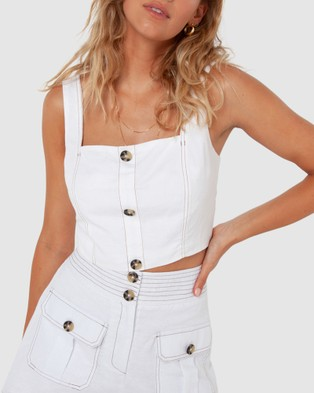 Madison The Label Juliette Crop - Cropped tops (White)