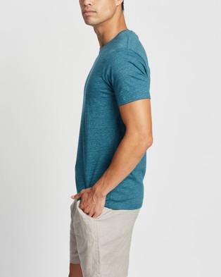 Marcs Marle Brando Crew - T-Shirts & Singlets (DARK TEAL)