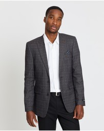 Burton Menswear - Check Slim Fit Suit Jacket