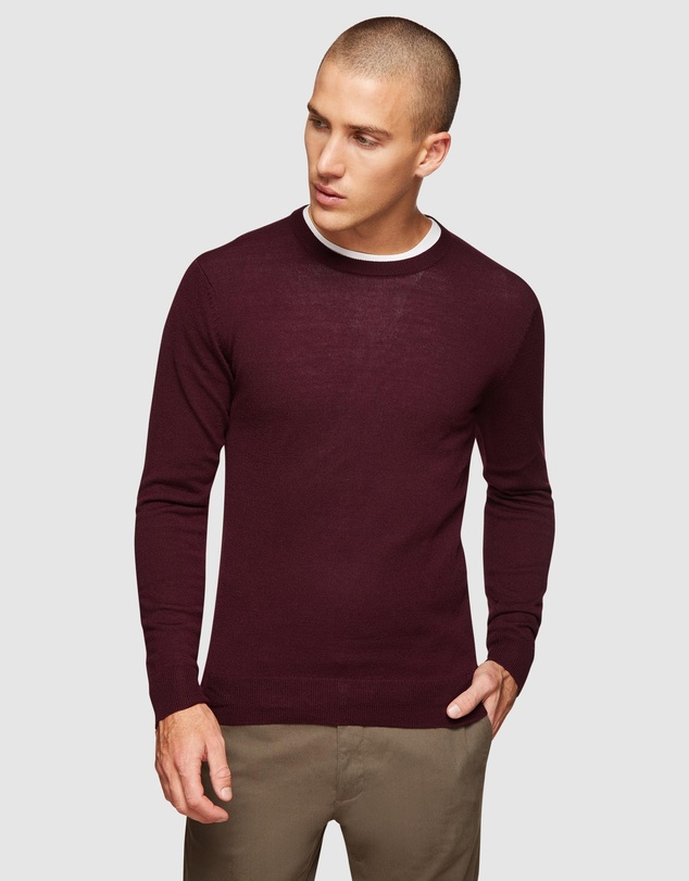 Oxford - Crew Neck Wool Blend Pullover