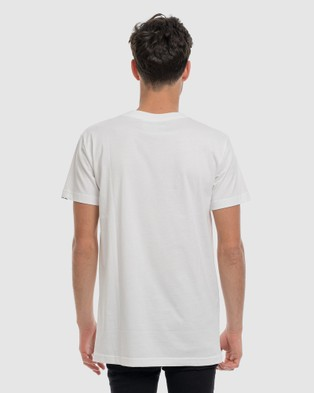 DVNT Anchor Embroidery Tee - Short Sleeve T-Shirts (White)