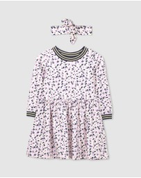 Milky - Animal Floral Dress & Headband Set - Kids