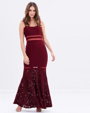 Montique – Natasha Bandage Gown – Dresses (Wine)