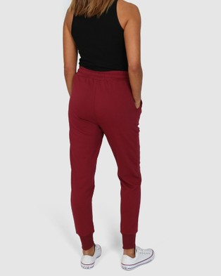Madison The Label Billie Joggers - Track Pants (Wine)