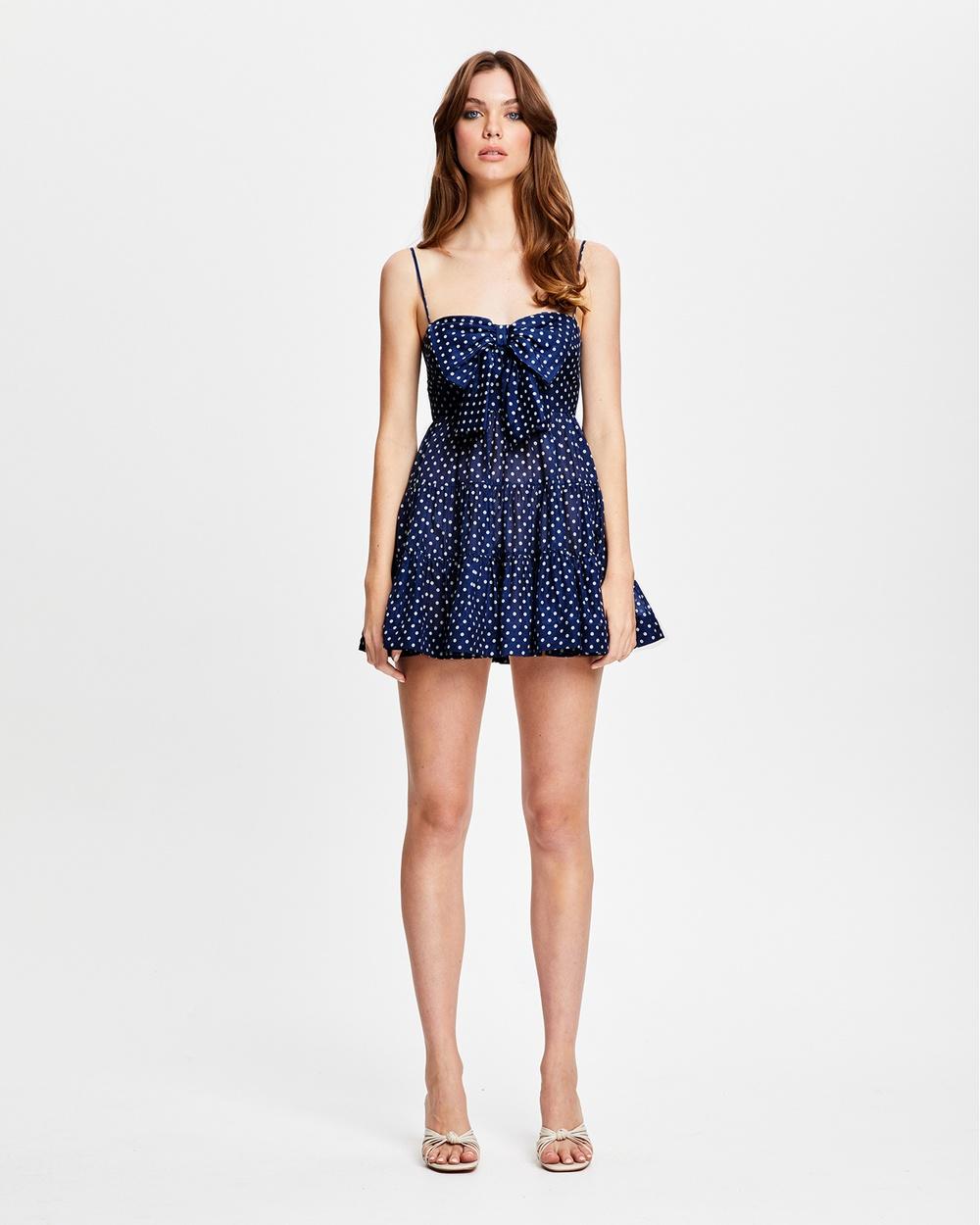 alice McCALL Last Song Mini Dress Printed Dresses Indigo