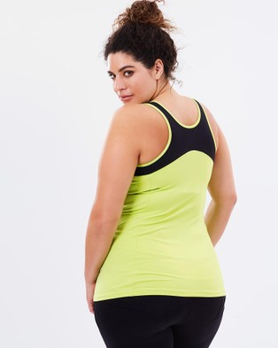 Curvy Chic Sports Workout Tank - Muscle Tops (Lime)