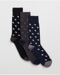 Abercrombie & Fitch - 3-Pack Casual Socks