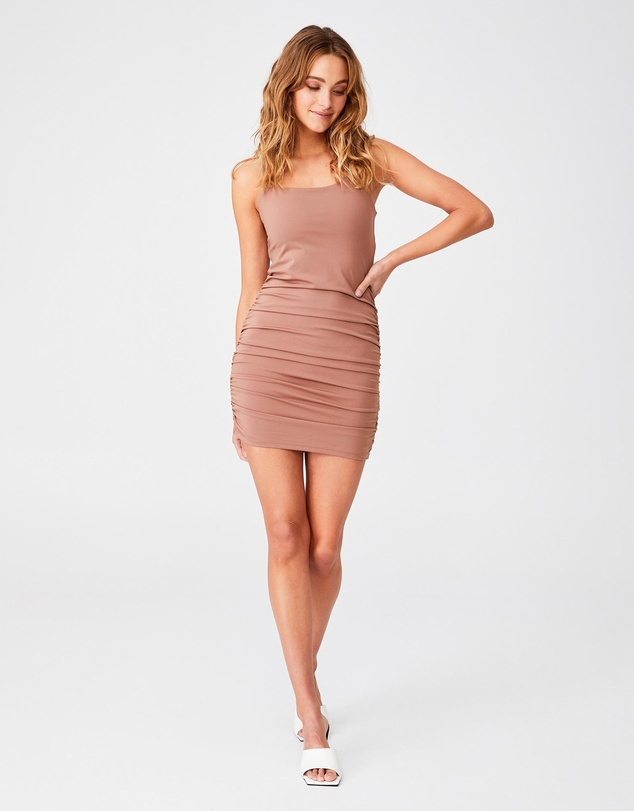 Women Day To Night Bodycon Ruched Mini Dress