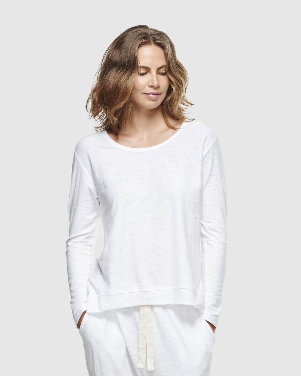 Cloth & Co. - Organic Cotton Slub Long Sleeve - T-Shirts & Singlets (White) Organic Cotton Slub Long Sleeve