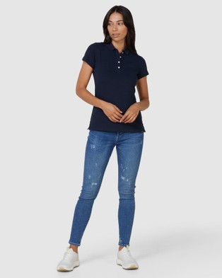 Superdry Scripted Polo Tee - Shirts & Polos (Navy)